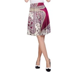 Morocco Motif Pattern Travel A Line Skirt by Nexatart