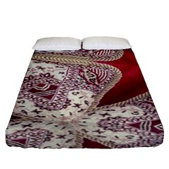Morocco Motif Pattern Travel Fitted Sheet (queen Size) by Nexatart