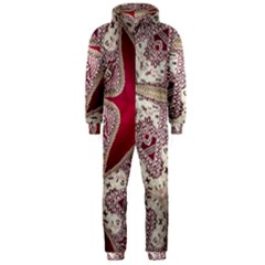 Morocco Motif Pattern Travel Hooded Jumpsuit (men)  by Nexatart