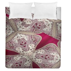 Morocco Motif Pattern Travel Duvet Cover Double Side (queen Size) by Nexatart