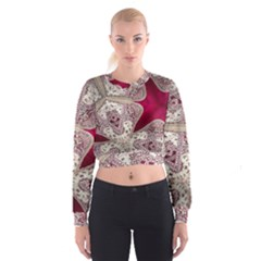 Morocco Motif Pattern Travel Women s Cropped Sweatshirt by Nexatart