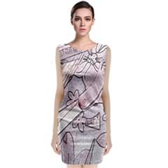 Newspaper Patterns Cutting Up Fabric Classic Sleeveless Midi Dress