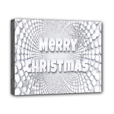 Oints Circle Christmas Merry Canvas 10  X 8