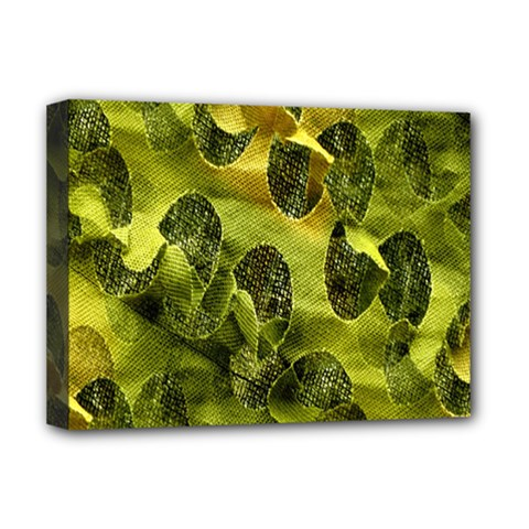 Olive Seamless Camouflage Pattern Deluxe Canvas 16  X 12   by Nexatart
