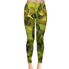 Olive Seamless Camouflage Pattern Leggings  by Nexatart