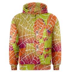 Orange Guy Spider Web Men s Zipper Hoodie by Nexatart
