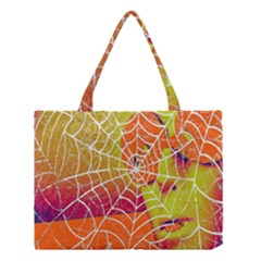 Orange Guy Spider Web Medium Tote Bag by Nexatart