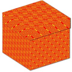 Orange Pattern Background Storage Stool 12