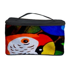 Papgei Red Bird Animal World Towel Cosmetic Storage Case