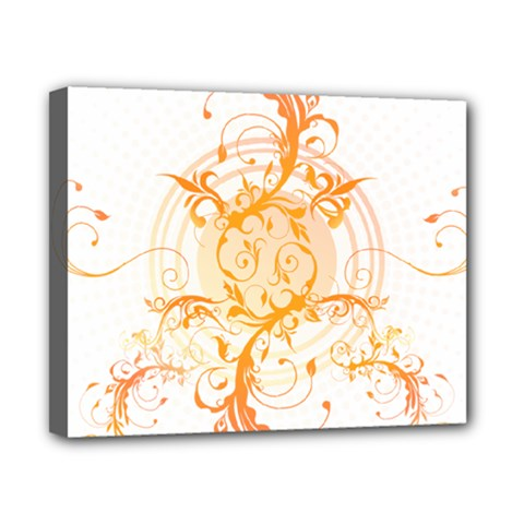 Orange Swirls Canvas 10  X 8  by SheGetsCreative