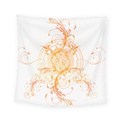 Orange Swirls Square Tapestry (small) by SheGetsCreative