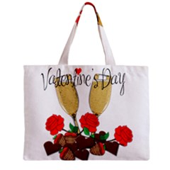Valentine s Day Romantic Design Zipper Mini Tote Bag by Valentinaart