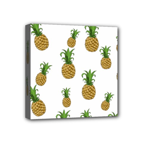 Pineapples Pattern Mini Canvas 4  X 4  by Valentinaart