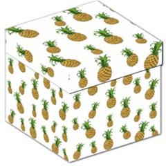 Pineapples Pattern Storage Stool 12   by Valentinaart