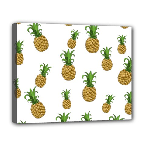 Pineapples Pattern Deluxe Canvas 20  X 16   by Valentinaart
