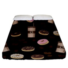 Coffee Break Fitted Sheet (california King Size) by Valentinaart
