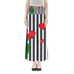 Tulips Maxi Skirts by Valentinaart