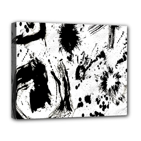 Pattern Color Painting Dab Black Deluxe Canvas 20  X 16