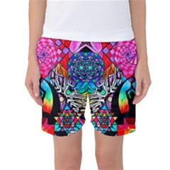 Meditation Aid - Women s Basketball Shorts by tealswan