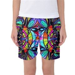 Planetary Vortex - Women s Basketball Shorts by tealswan