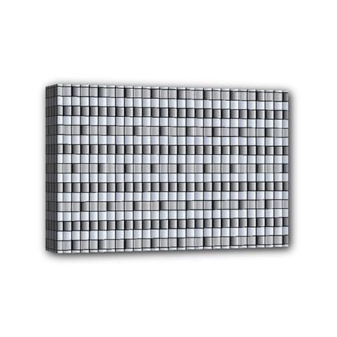 Pattern Grid Squares Texture Mini Canvas 6  X 4
