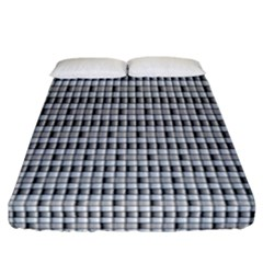 Pattern Grid Squares Texture Fitted Sheet (california King Size) by Nexatart