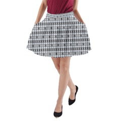 Pattern Grid Squares Texture A Line Pocket Skirt by Nexatart