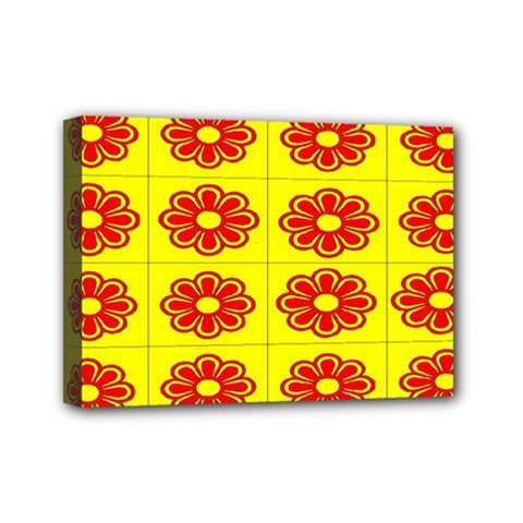 Pattern Design Graphics Colorful Mini Canvas 7  X 5  by Nexatart