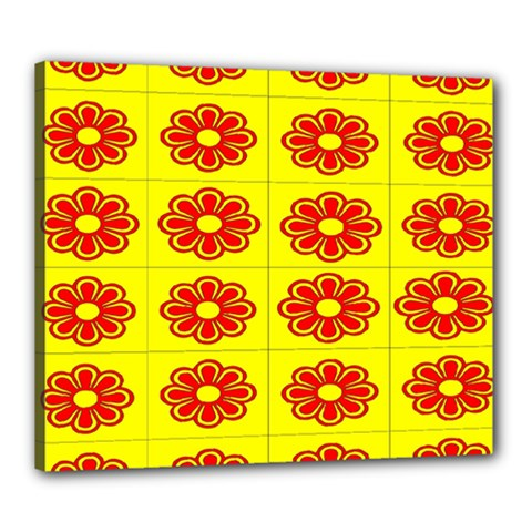 Pattern Design Graphics Colorful Canvas 24  X 20