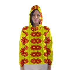 Pattern Design Graphics Colorful Hooded Wind Breaker (women) by Nexatart