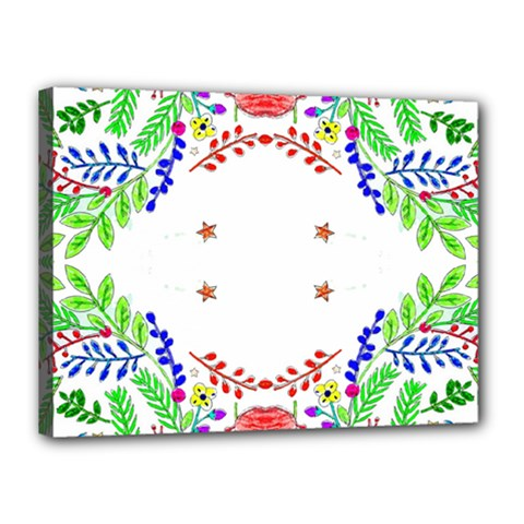 Holiday Festive Background With Space For Writing Canvas 16  X 12
