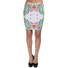 Holiday Festive Background With Space For Writing Bodycon Skirt by Nexatart
