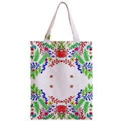 Holiday Festive Background With Space For Writing Zipper Classic Tote Bag