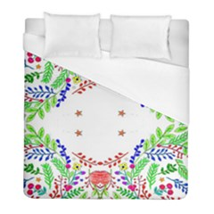 Holiday Festive Background With Space For Writing Duvet Cover (Full/ Double Size)