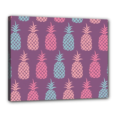 Pineapple Pattern  Canvas 20  X 16  by Nexatart