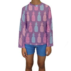 Pineapple Pattern  Kids  Long Sleeve Swimwear