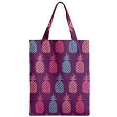 Pineapple Pattern  Zipper Classic Tote Bag by Nexatart