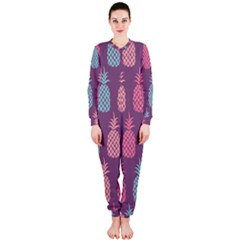 Pineapple Pattern  Onepiece Jumpsuit (ladies)  by Nexatart