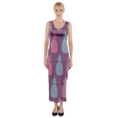 Pineapple Pattern  Fitted Maxi Dress by Nexatart