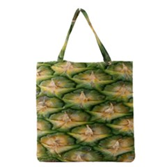 Pineapple Pattern Grocery Tote Bag by Nexatart