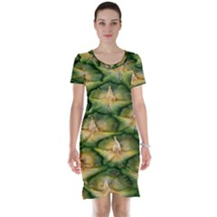 Pineapple Pattern Short Sleeve Nightdress by Nexatart