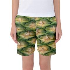 Pineapple Pattern Women s Basketball Shorts by Nexatart