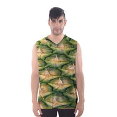 Pineapple Pattern Men s Basketball Tank Top by Nexatart