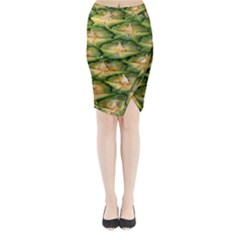 Pineapple Pattern Midi Wrap Pencil Skirt by Nexatart