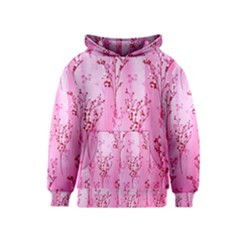 Pink Curtains Background Kids  Pullover Hoodie