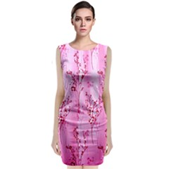 Pink Curtains Background Classic Sleeveless Midi Dress