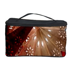 Poinsettia Red Blue White Cosmetic Storage Case