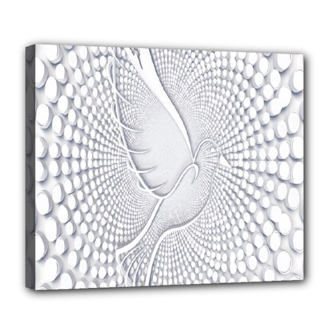Points Circle Dove Harmony Pattern Deluxe Canvas 24  X 20