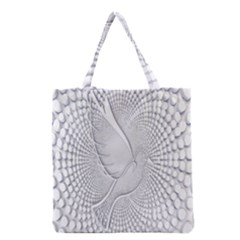 Points Circle Dove Harmony Pattern Grocery Tote Bag by Nexatart