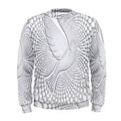 Points Circle Dove Harmony Pattern Men s Sweatshirt